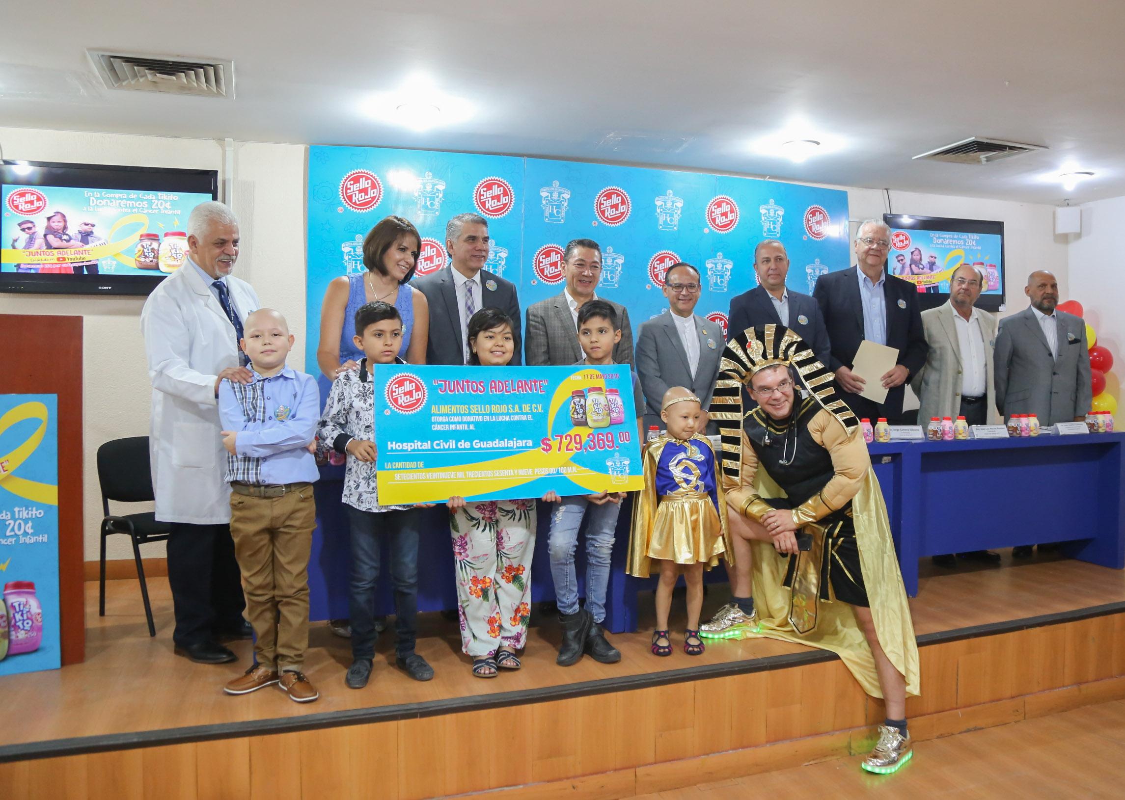 Recibe Hospital Civil donativo de Alimentos Sello Rojo para la atención de niños con cáncer