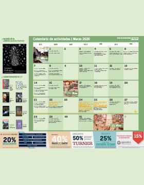 Programación de actividades de la Librería Carlos Fuentes del mes de marzo.