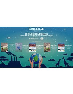 """Cartelera semanal  #CicloDocumental Consecuencias – """"Tiempo de actuar cambio climático"""" a llevarse a cabo del 7 al 12 de diciembre."""