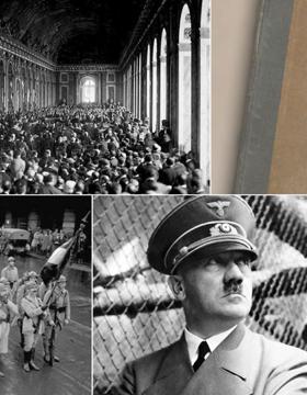 Cartel informativo para promocionar la conferencia A cien años de la Primera Guerra Mundial, a desarrollarse el 12 de septiembre, en el CUCSH La Normal