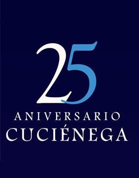 Identidad gráfica para anunciar el programa del 25 aniversario del CUCIénega durante octubre