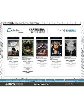 Cartelera del Cineforo. Del 11 al 16 de enero.