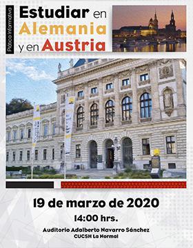 Plática informativa para estudiar en Alemania y en Austria a llevarse a cabo el 19 de marzo a las 14:00 horas.