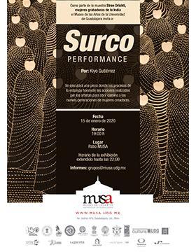 Surco Performance por Kiyo Gutiérrez a llevarse a cabo el 15 de enero a las 19:00 horas.