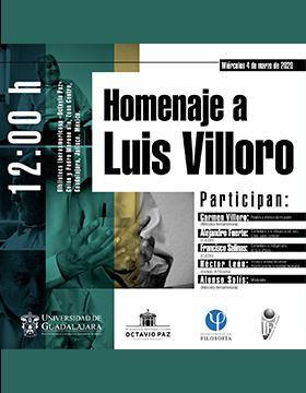 Homenaje a Luis Villoro a llevarse a cabo el 4 de marzo a las 12:00 horas.