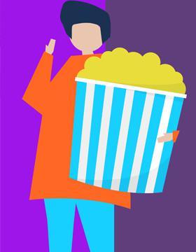 Identidad gráfica para promocionar la Programación de la Cineteca FICG del 16 al 22 de octubre