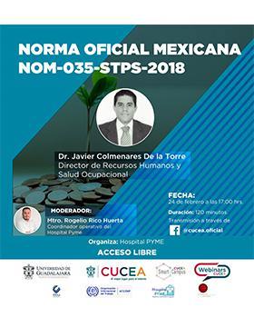 Webinar: Norma Oficial Mexicana NOM-035-STPS-2018