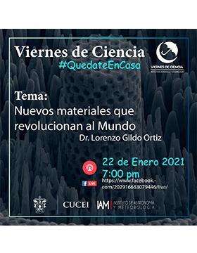 Cartel informativo - Conferencia: Nuevos materiales que revolucionan al mundo