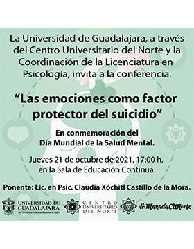 Conferencia: Las emociones como factor protector del suicidio
