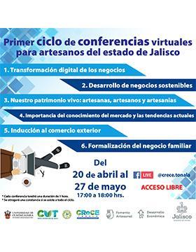 Primer ciclo de conferencias virtuales para artesanos del Estado de Jalisco