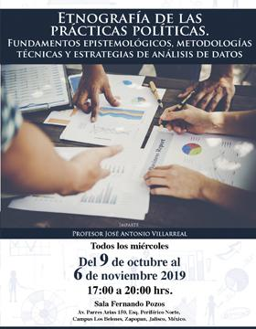 Cartel para anunciar el Seminario-taller: Etnografía de las prácticas políticas