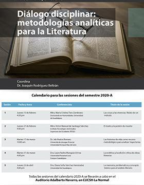 Seminario permanente. Diálogo disciplinar: metodologías analíticas para la literatura, en Seminario permanente. Diálogo disciplinar: metodologías analíticas para la literatura.