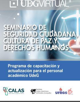Cartel informativo para promocionar el Seminario de Seguridad Ciudadana, Cultura de Paz y Derechos Humanos