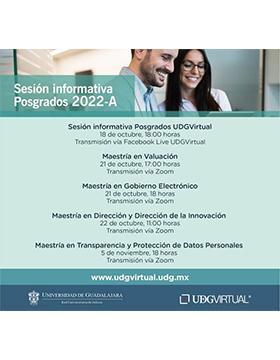 Sesión informativa Posgrados UDGVirtual 2022-A
