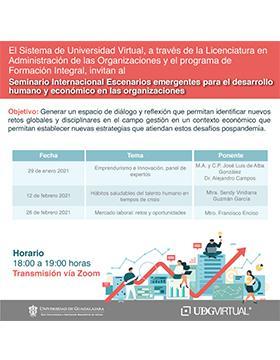 Cartel informativo - Conferencia: Emprendurismo e Innovación, panel de expertos