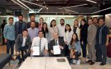 El Rector del CUTonalá, maestro Alfredo Peña, al concluir la firma de convenio con el Consejo Coordinador de Jóvenes Empresarios de Jalisco