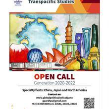 Master of Global Politics and Transpacific Studies. Open call, generation 2020-2022. Recepción de documentos del 16 de enero al 30 de abril.