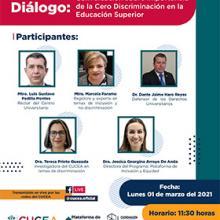 Diálogo: Conversación sobre importancia de la Cero Discriminación en la Educación Superior
