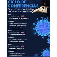 """Ciclo de conferencias """"Muerte, vida y subjetividad en tiempos de pandemia"""""""