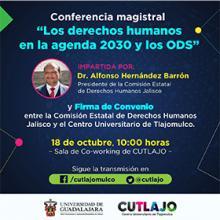 Conferencia magistral: Los derechos humanos en la agenda 2030 y los ODS