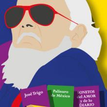 Identidad gráfica para promocionar el Homenaje a Fernando del Paso en su primer aniversario luctuoso