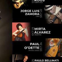 Identidad gráfica para anunciar el quinto Festival Internacional de Guitarra UdeG