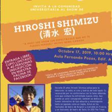 Cartel para a iniciar el Show de Hiroshi Shimizu