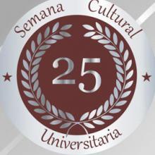 Identidad gráfica para anunciar la 25 Semana Cultural Universitaria