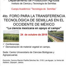 Cartel para promocionar el Cuarto Foro para la Transferencia Tecnológica de Semillas en el Occidente de México