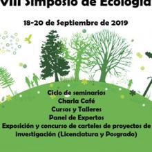 Cartel informativo para promocionar el Simposio de Ecología 2019, a desarrollarse del 18 al 20 de septiembre en el CUCBA