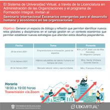 Cartel informativo - Conferencia: Mercado laboral: retos y oportunidades