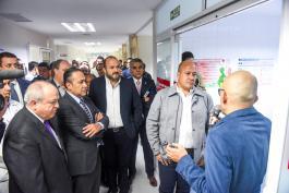 Autoridades universitarias y el Gobernador del Estado, Enrique Alfaro reciben explicación de la primera etapa de la Unidad de Especialidad Materno Infantil del Nuevo Hospital Civil de Guadalajara