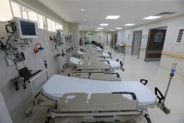 Área de camas de la primera etapa de Alta Especialidad Materno Infantil del Nuevo Hospital Civil de Guadalajara