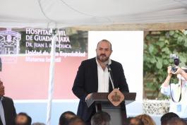 El Rector General de la UdeG da discurso en la inauguración de la Unidad de Alta Especialidad Materno Infantil del Nuevo Hospital Civil de Guadalajara